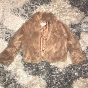 BCBG faux fur coat